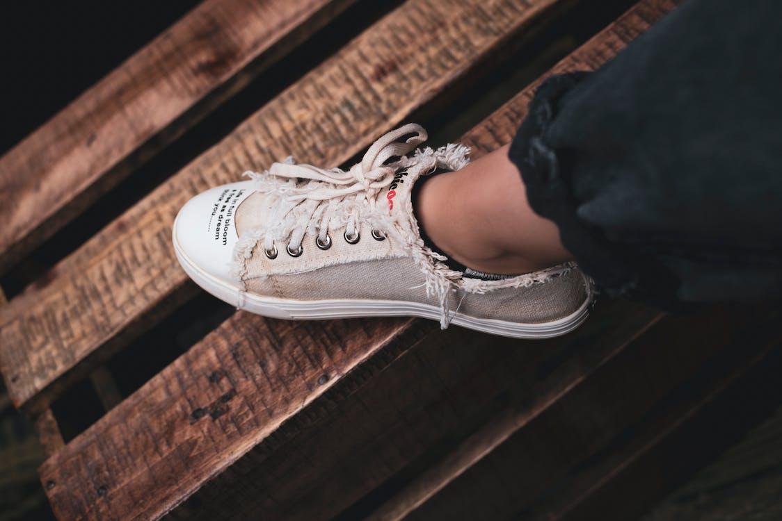 Person Wearing Low-top Sneaker