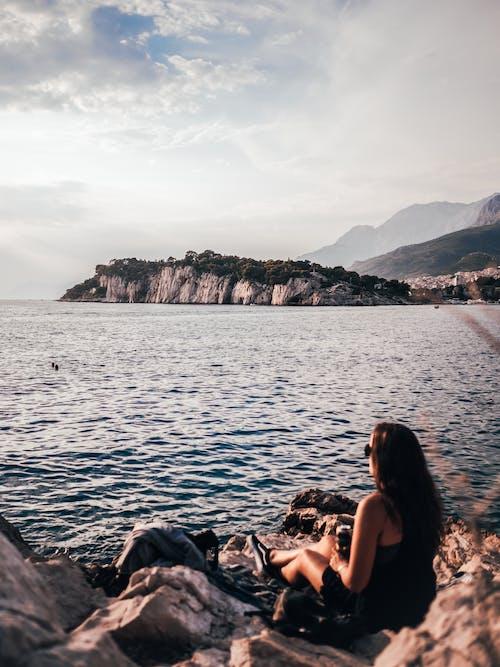 Imagine de stoc gratuită din agrement, croația, faleză, femeie
