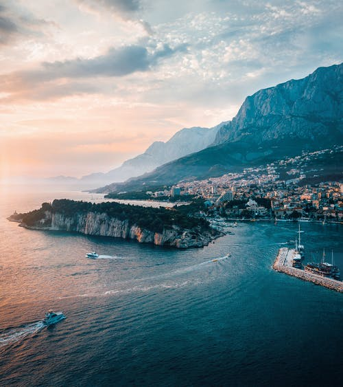 Imagine de stoc gratuită din croația, de deasupra, fotografie cu drona, fotografie din aer