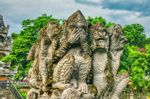 Fotobanka sbezplatnými fotkami na tému architektúra, Indonézia, kameň, park