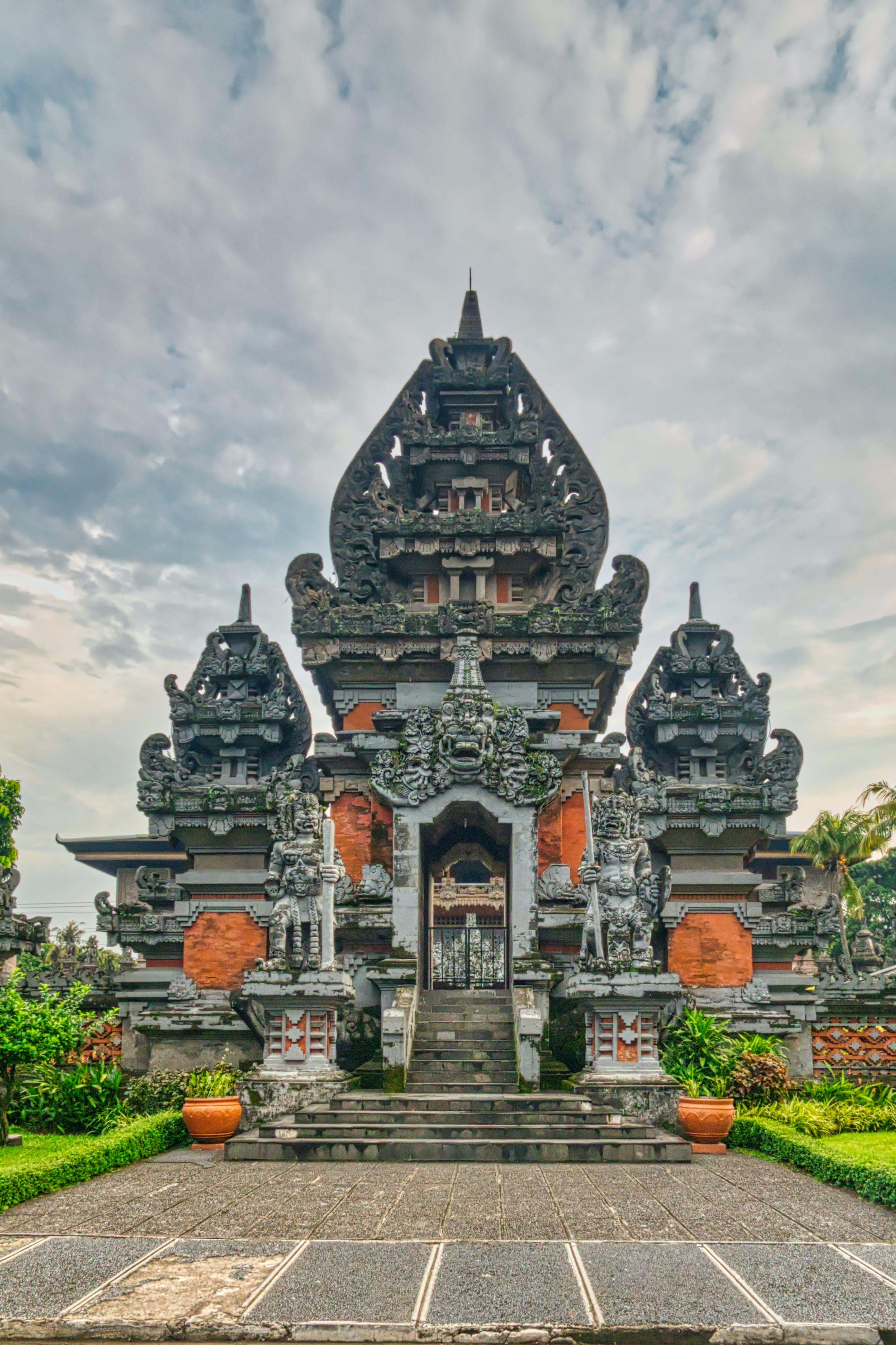 건축, 고대의, 사원, 인도네시아의 무료 스톡 사진