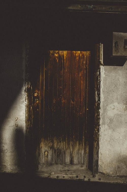 갈색, 문, 빈티지, 어두운의 무료 스톡 사진