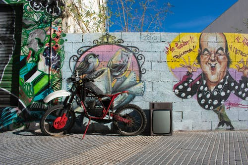 Free stock photo of chiquito, motorbike, street, street art