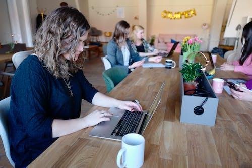 互聯網, 咖啡, 坐, 女性 的 免費圖庫相片