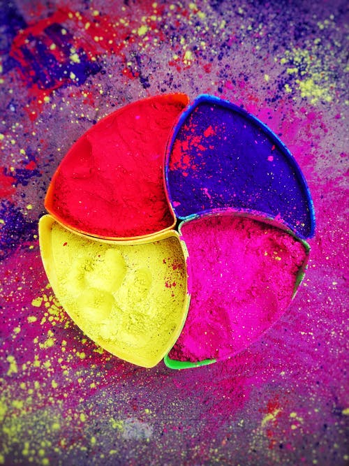 Multicolored Powder Photo