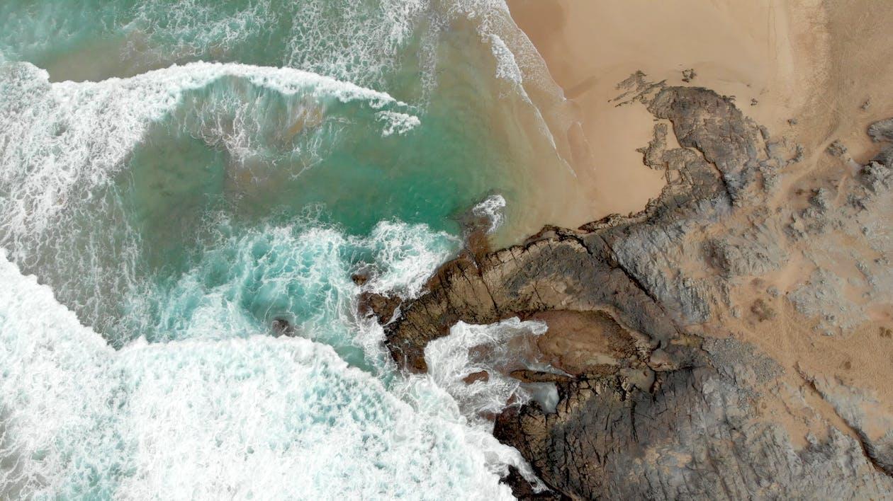 above, aerial, beach