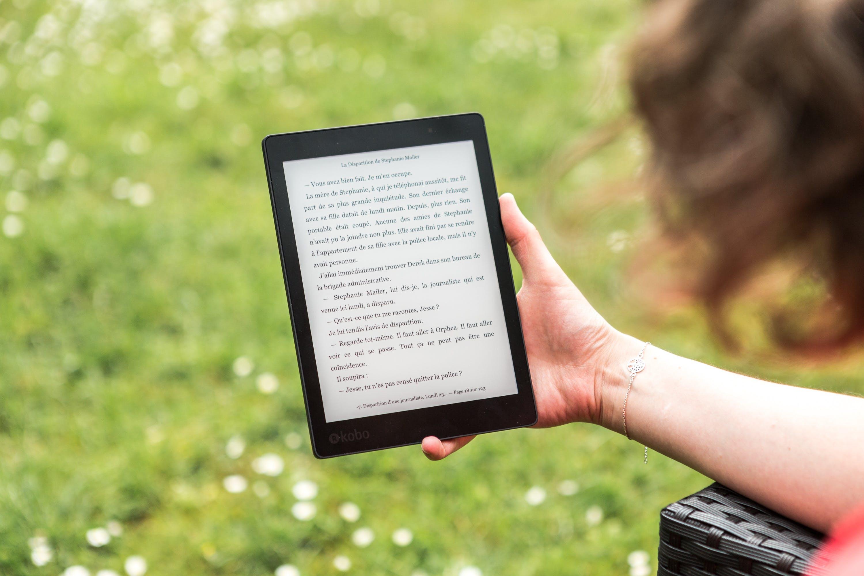 E-book Reader Turned on