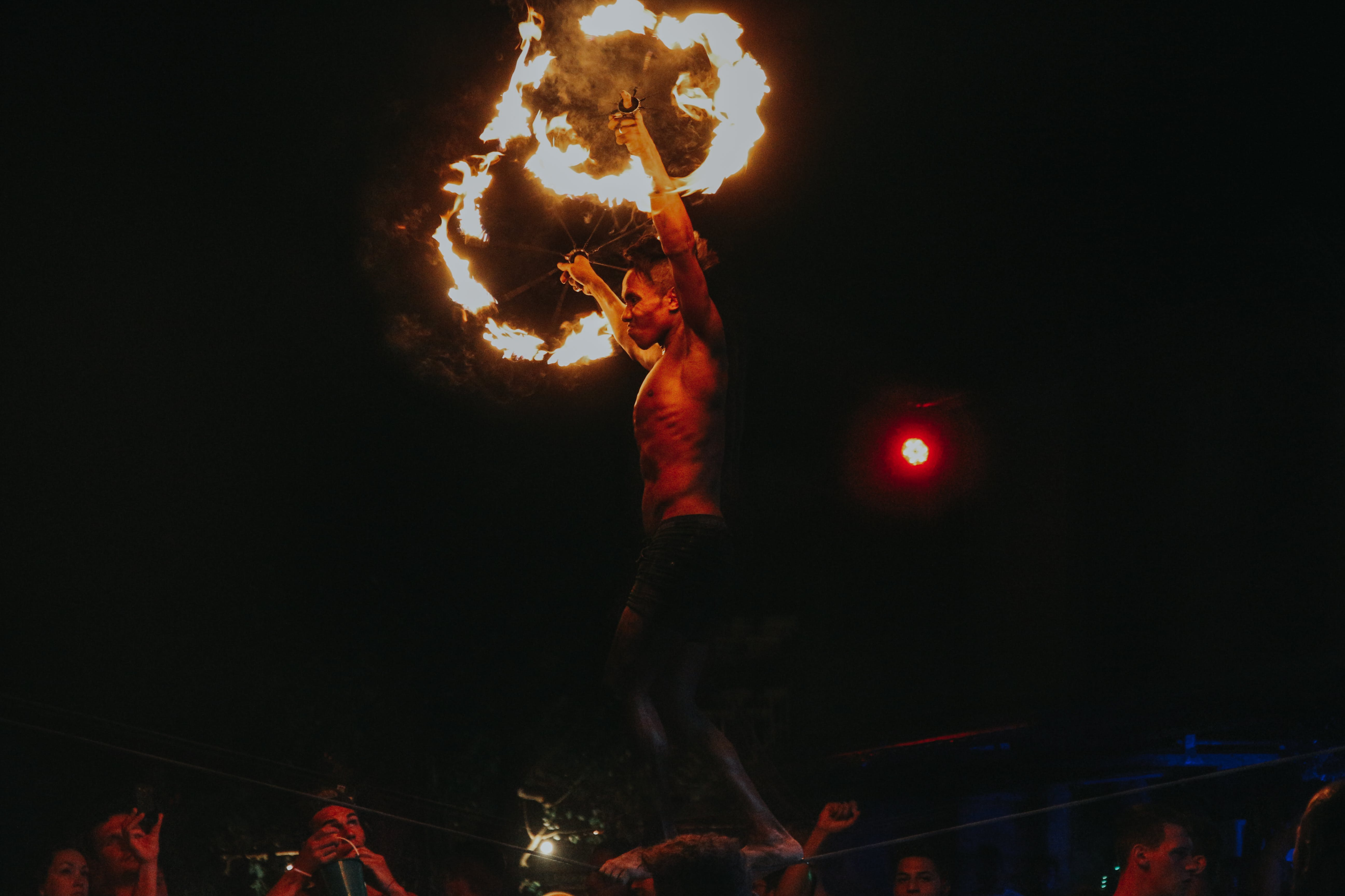 Free stock photo of fire show, moon, moon party, thailand