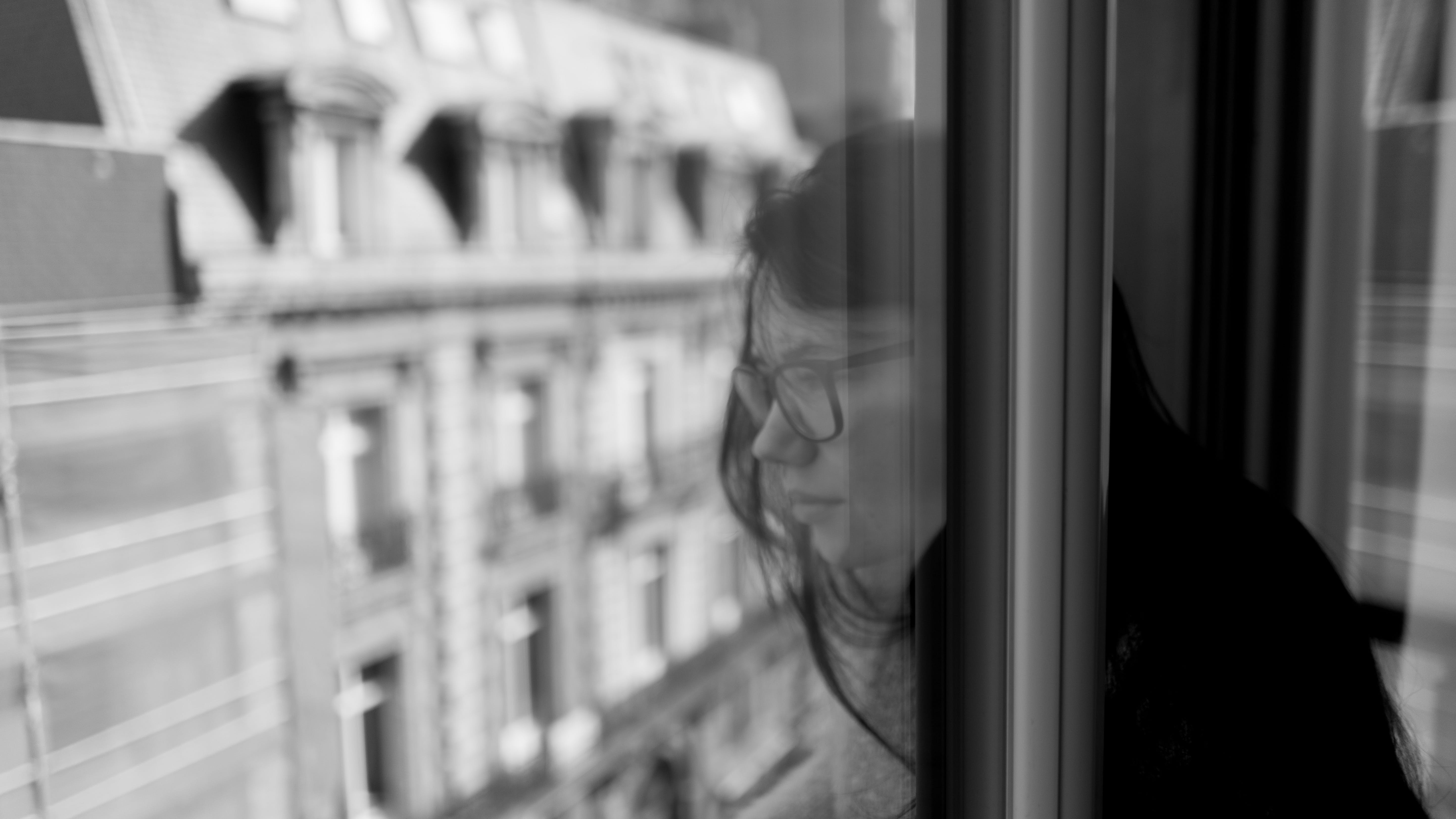 Free stock photo of beautiful women, black and white, ceiling window, female
