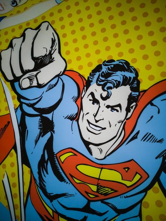 Free stock photo of cartoon character, superman