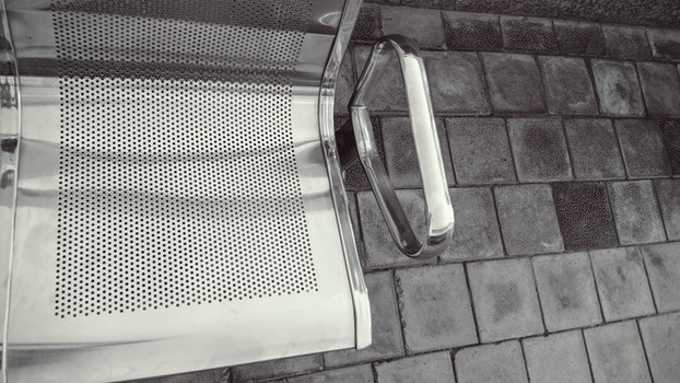 Silver Metal Armchair