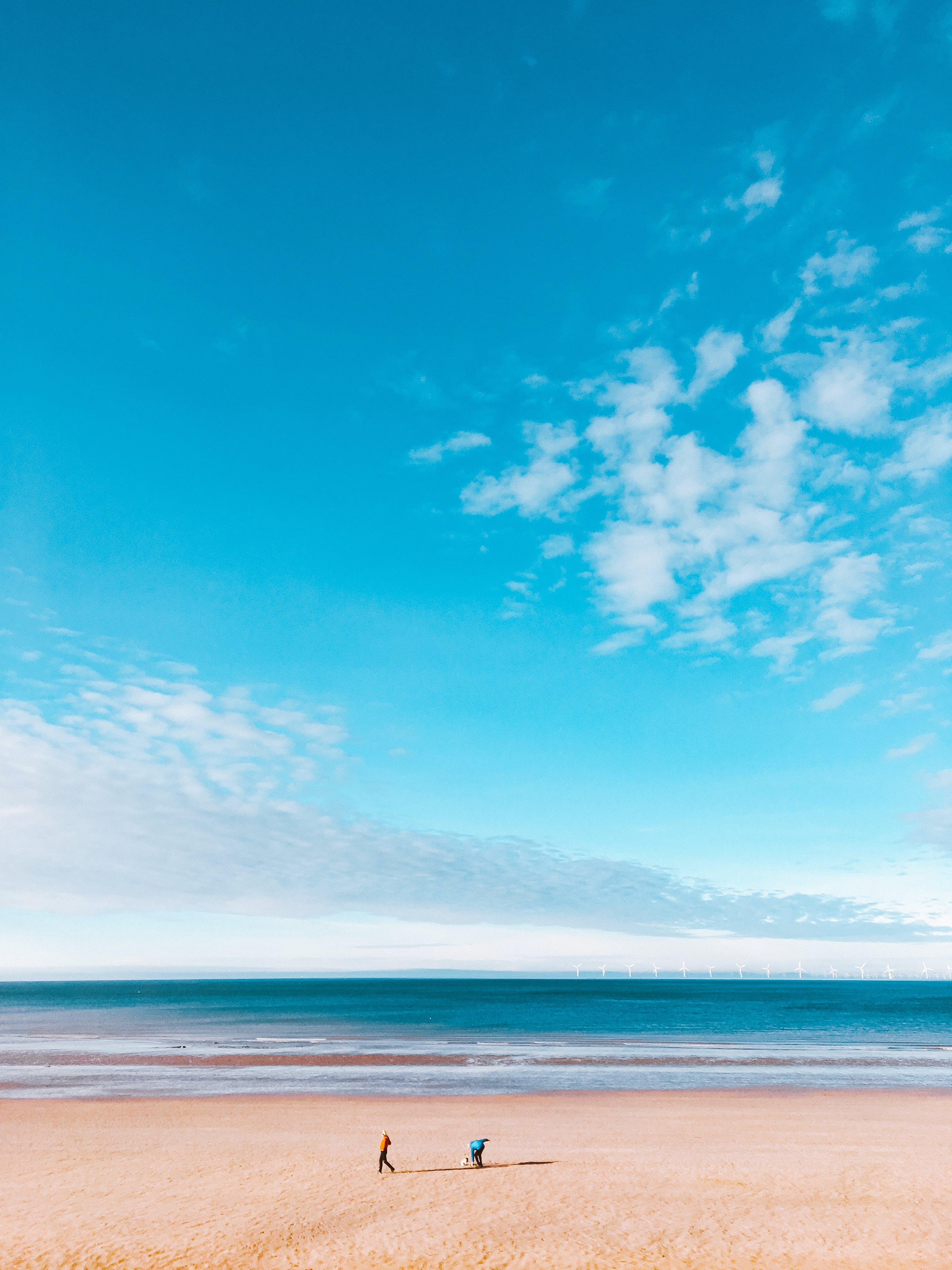 Foto d'estoc gratuïta de assolellat, cel, horitzó, platja