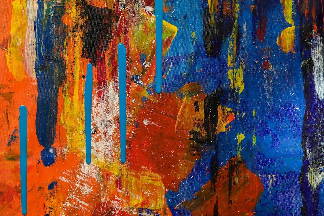 abstraktní expresionismus, abstraktní obraz, akrylová malba