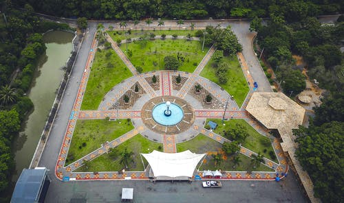 Бесплатное стоковое фото с парк, с высоты птичьего полета, сверху, фото сверху