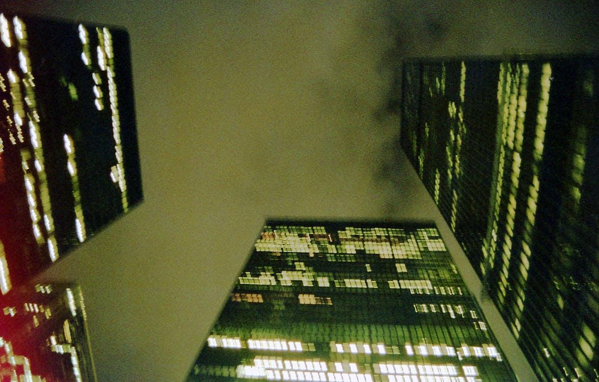 arkitektur, byggnader, himmel