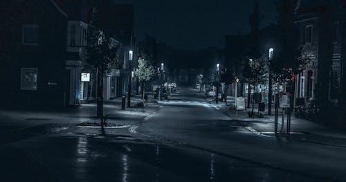 ağaçlar, akşam, arabalar, araçlar içeren Ücretsiz stok fotoğraf