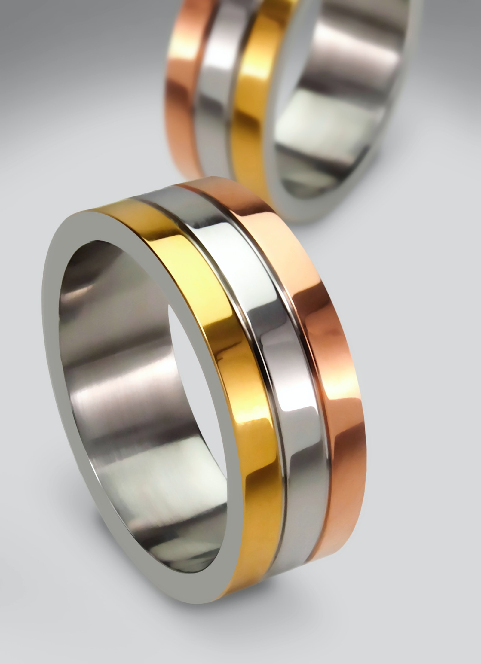 Grayscale Photo of 2 Silver With Diamond Rings · Free ...