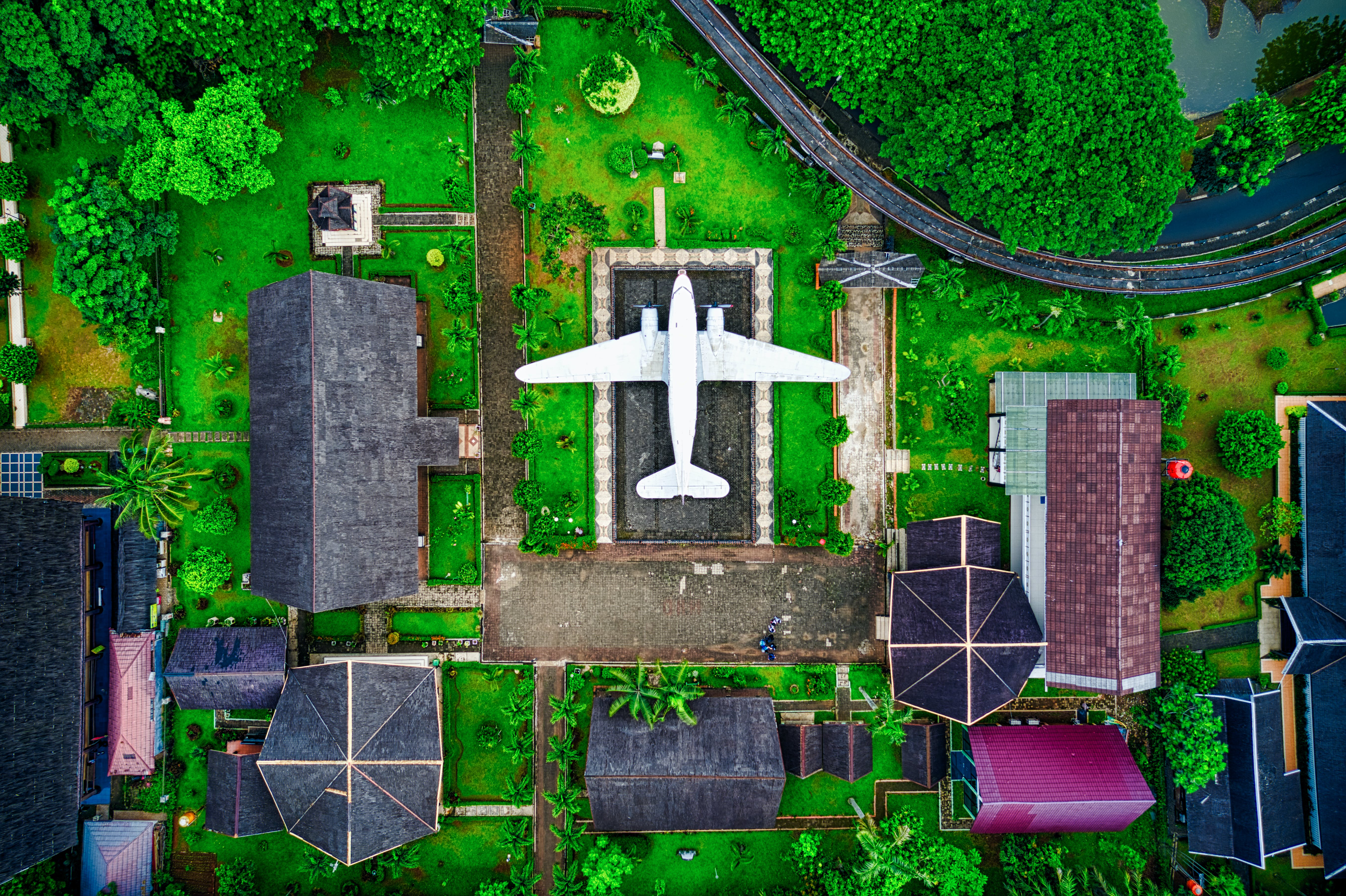 Aerial Photography Of White Airplane