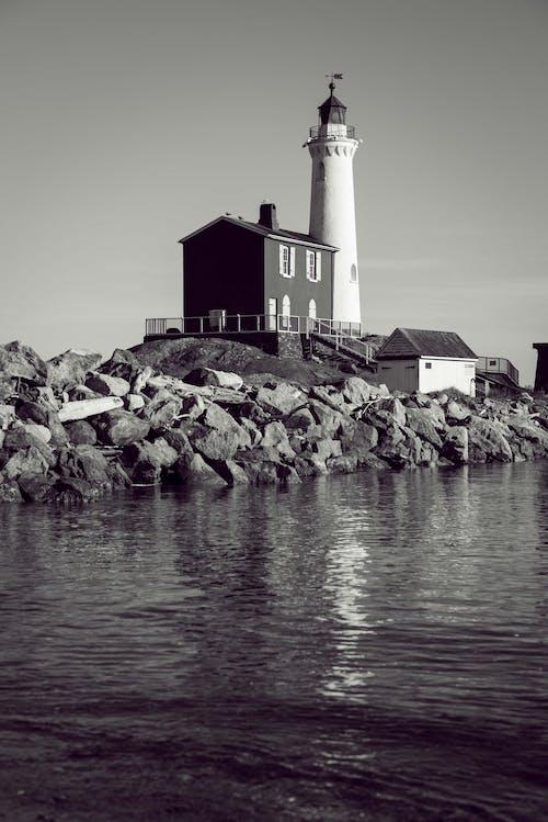 Gratis arkivbilde med arkitektur, bygning, fyr, hav