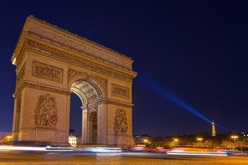 Arc De Triomphe during Night Time