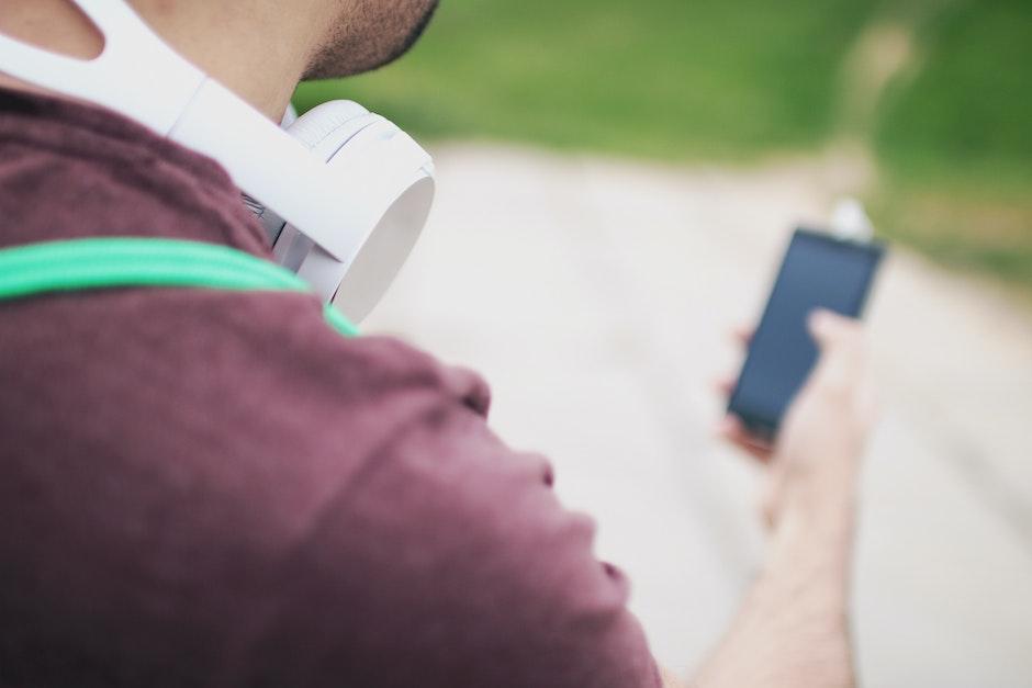 adult, blur, headphones