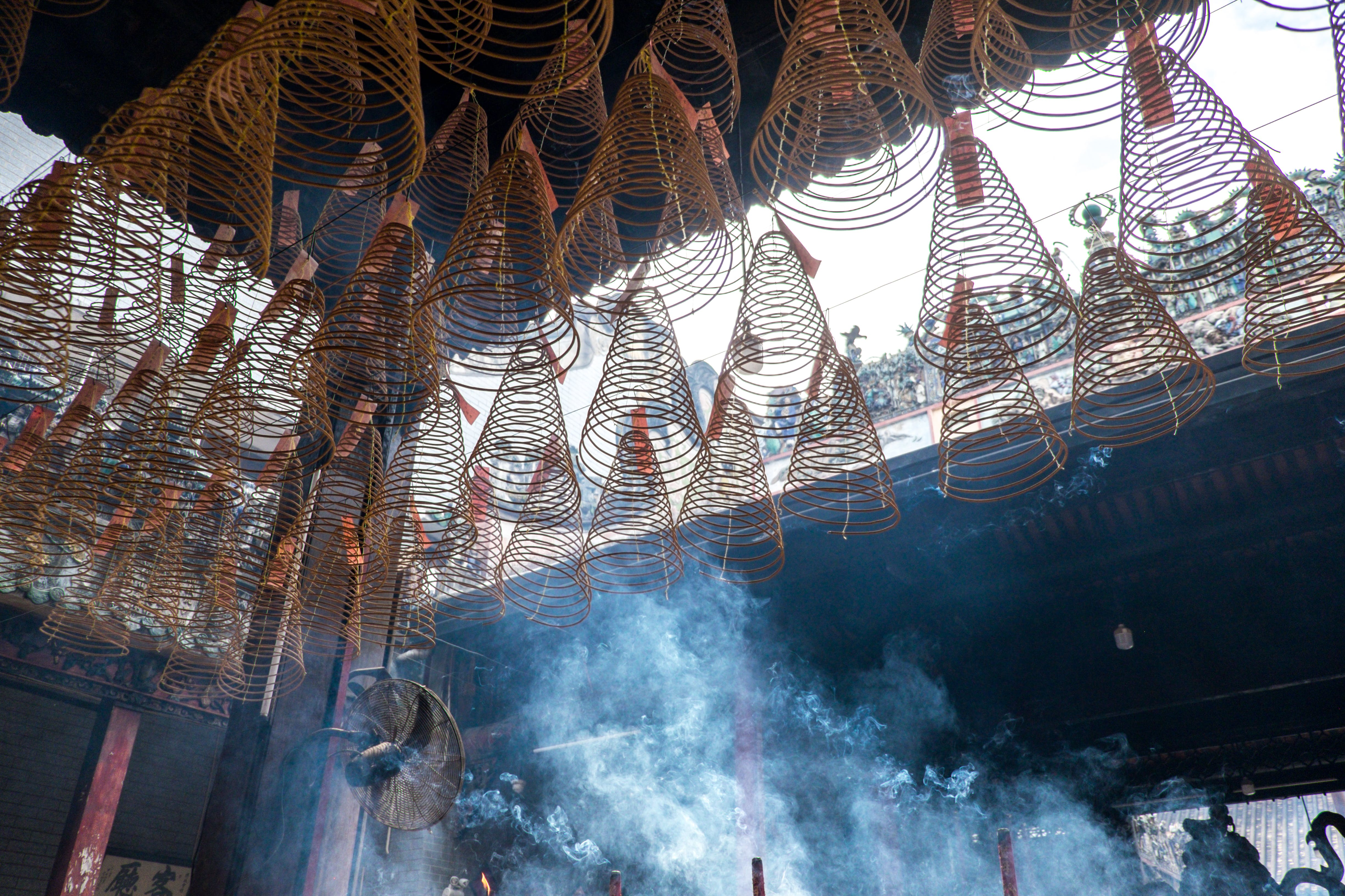 Free stock photo of asia, culture, incense, pagoda