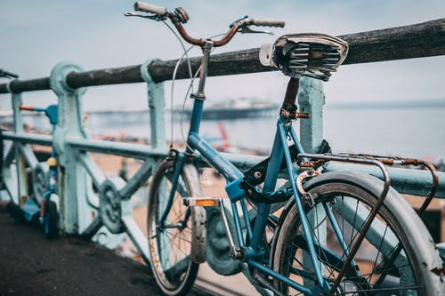 Бесплатное стоковое фото с iphone, винтажный велосипед, лето, море