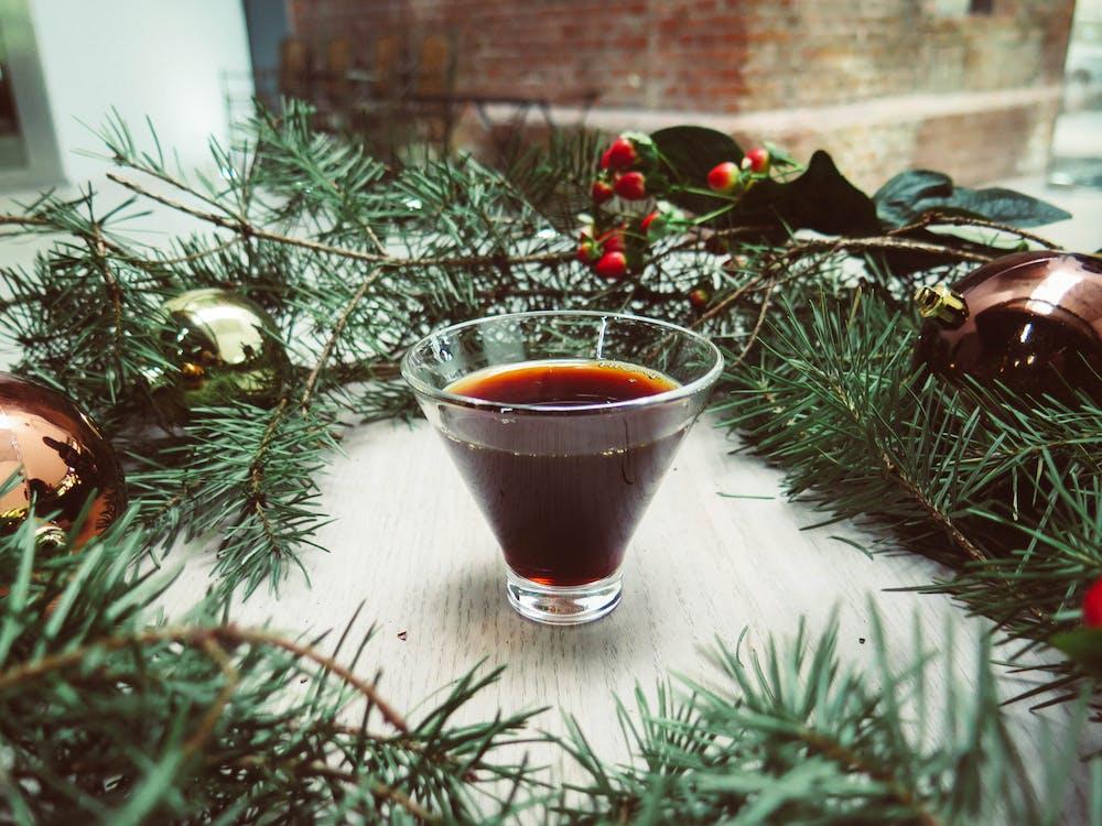 クリスマス, コップ, テーブル