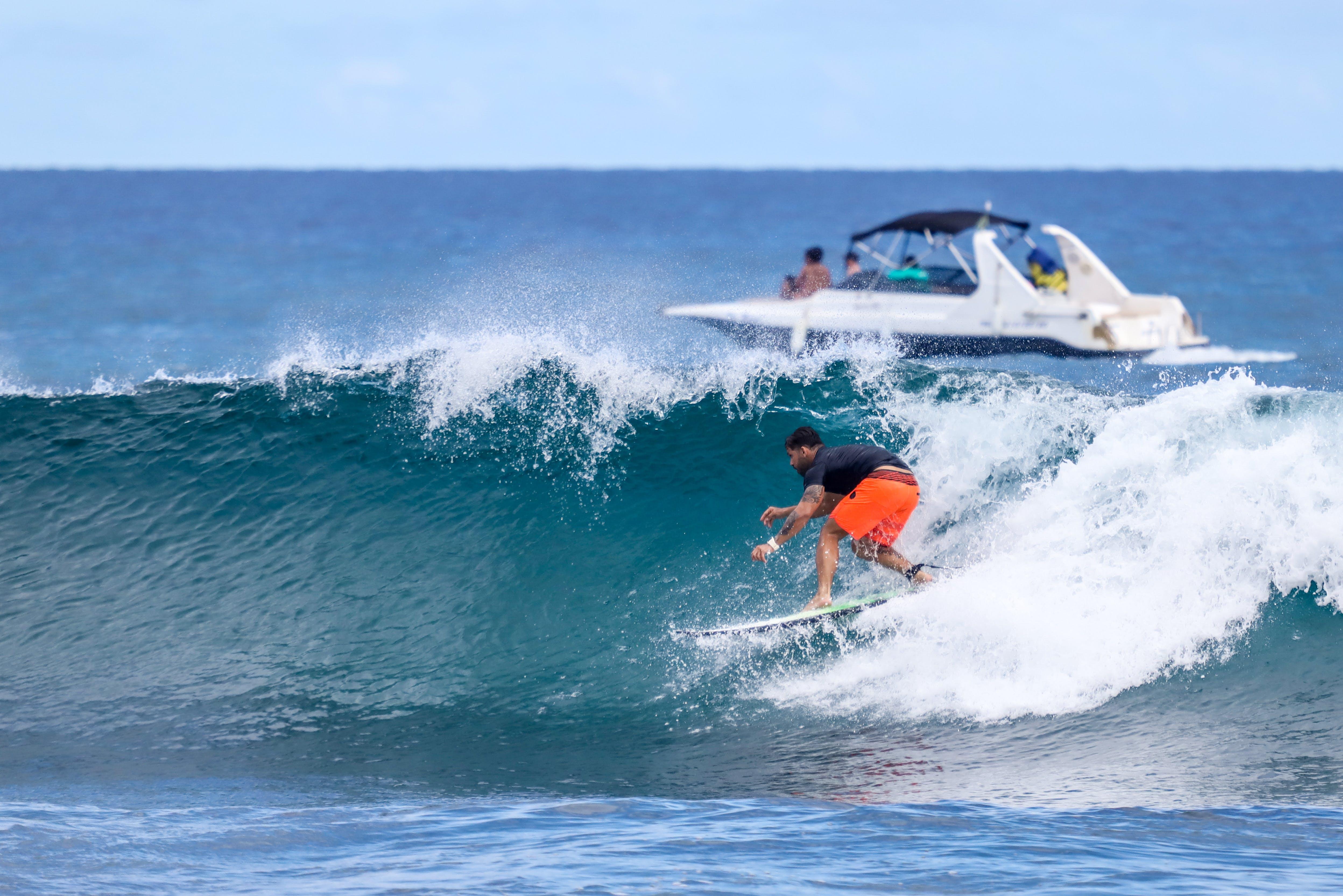 Man Surfboarding