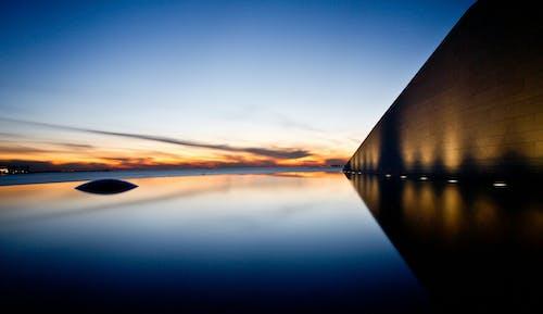 Free stock photo of geometric shapes, landscape, sunrise