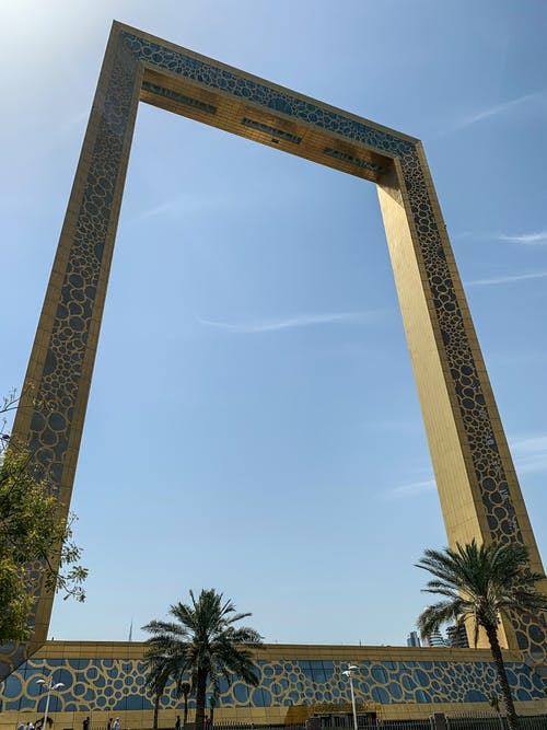 Free stock photo of dubai, dubai frame, frame, united arab emirates