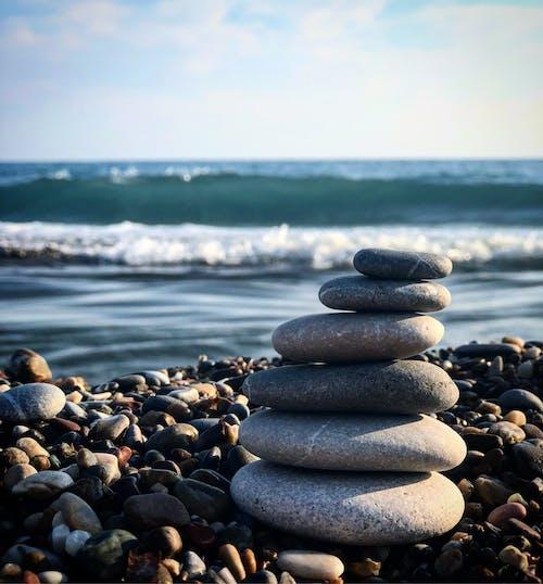 deniz kenarı, hindi, taşlar içeren Ücretsiz stok fotoğraf