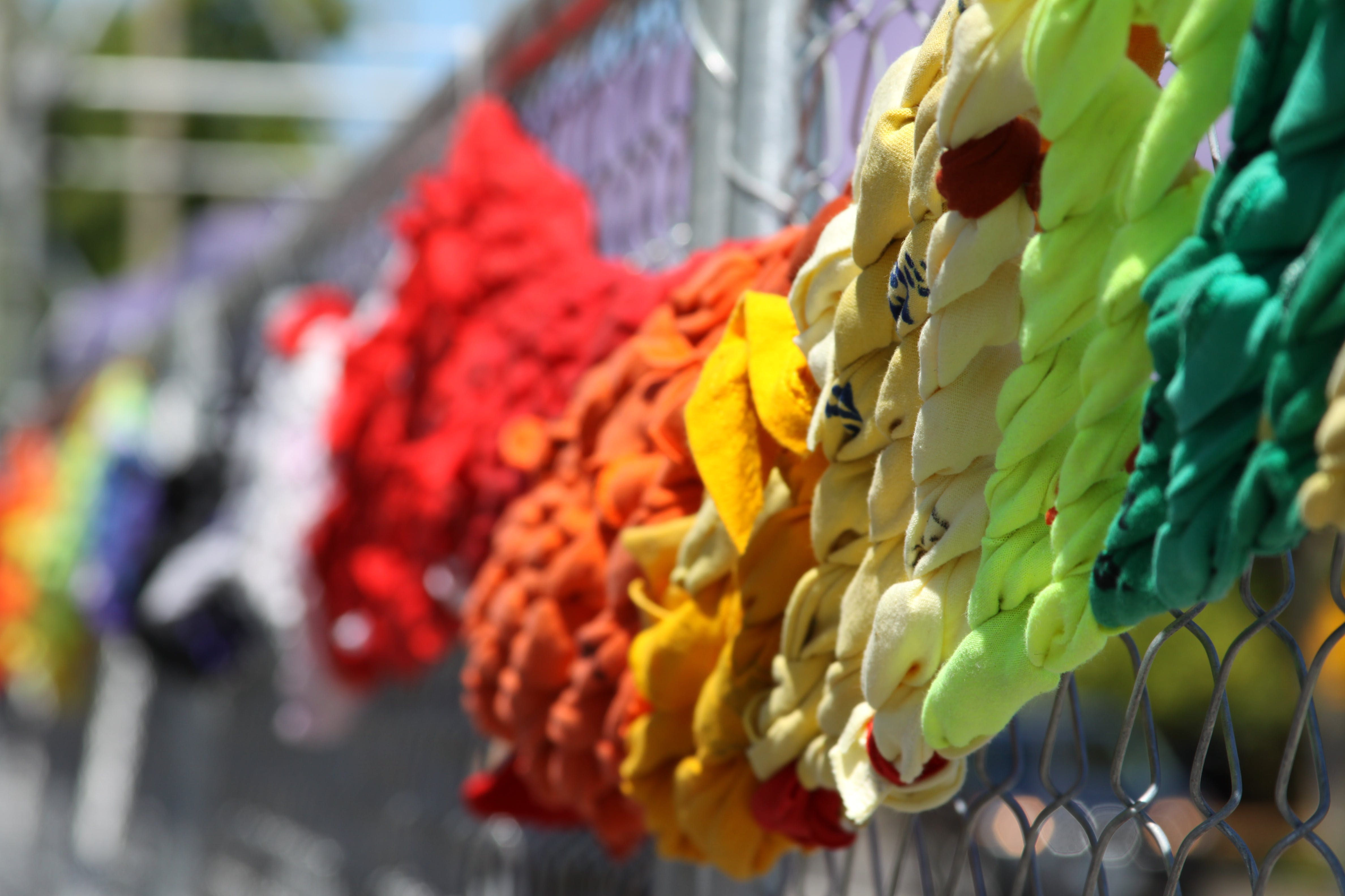 of color, colors, fence, knot