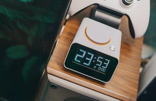 White Digital Desk Clock