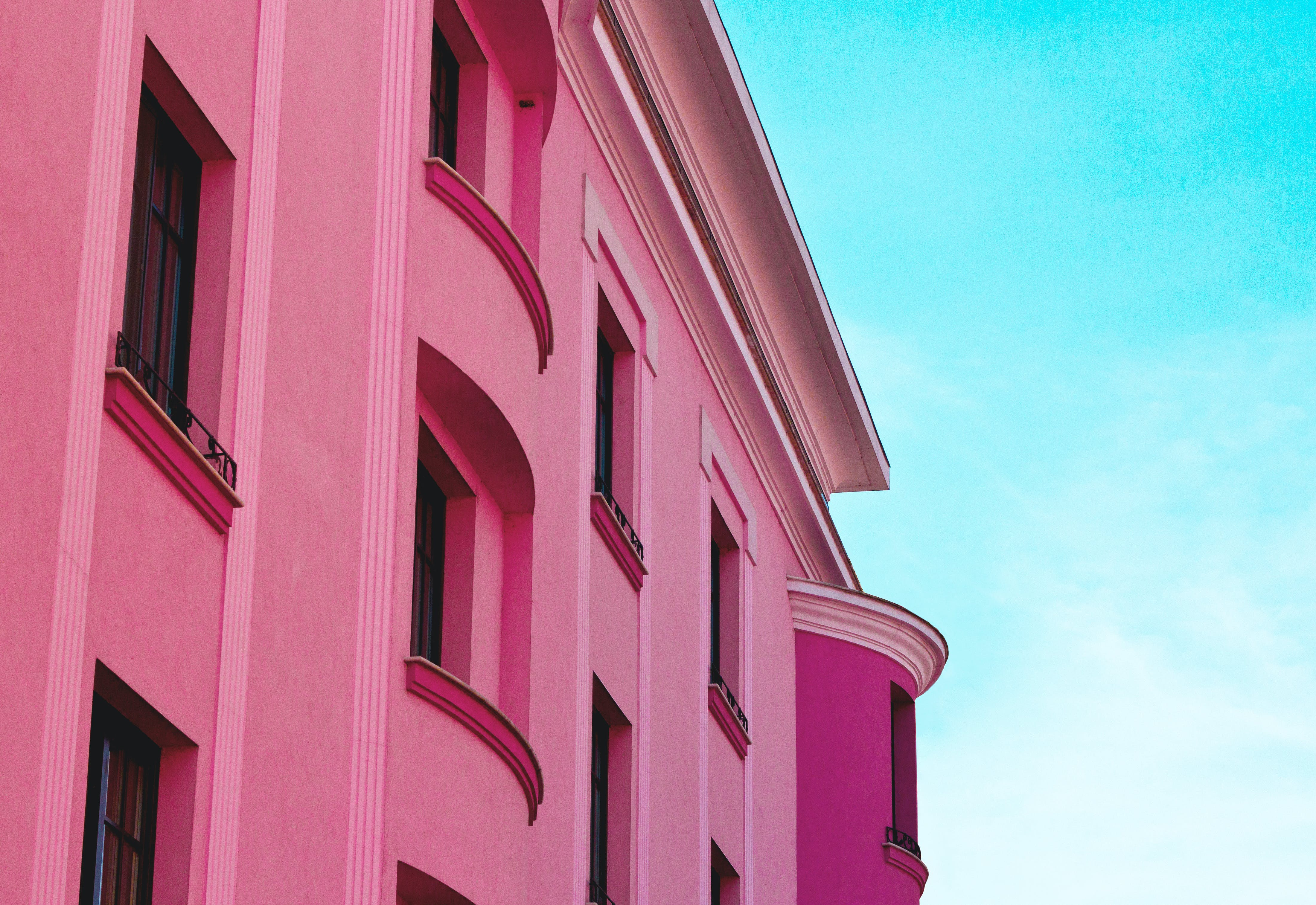 Pink Concrete Building