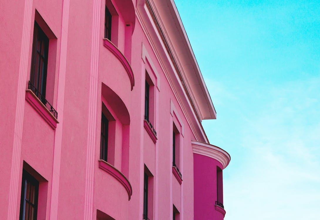 Edifício De Concreto Rosa