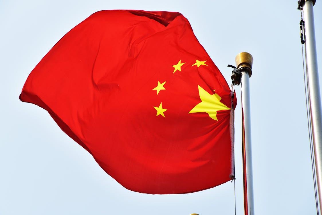 中国の旗の無料の写真素材