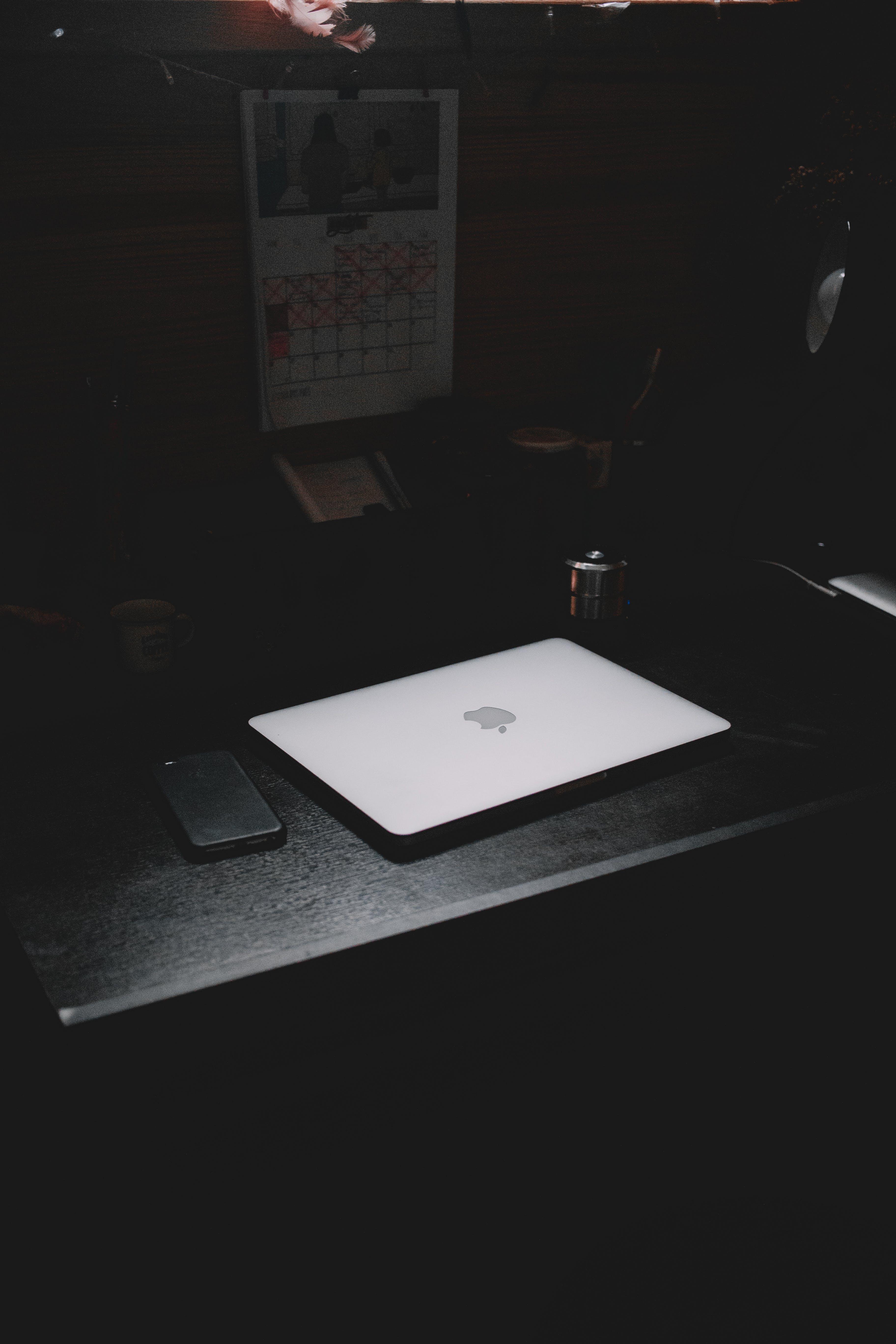 arbejdsområde, bærbar computer, design