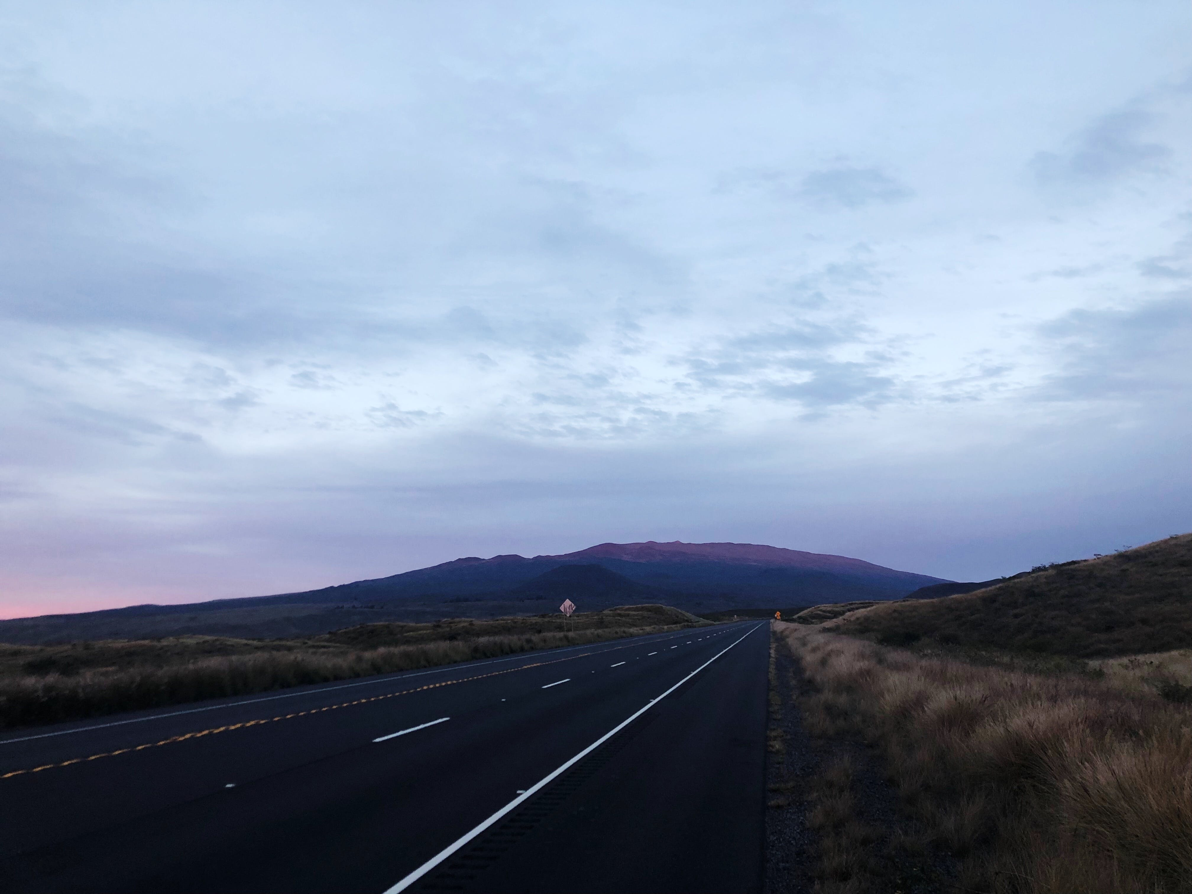 Free stock photo of road trip, sunset, volcano