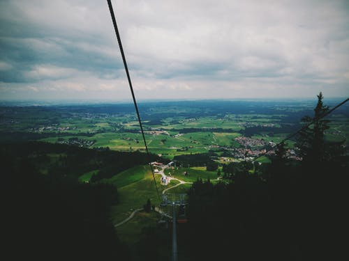강삭 철도, 공중, 구름, 꼭대기의 무료 스톡 사진