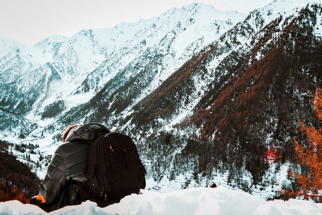 alpinismo, alto, da dietro