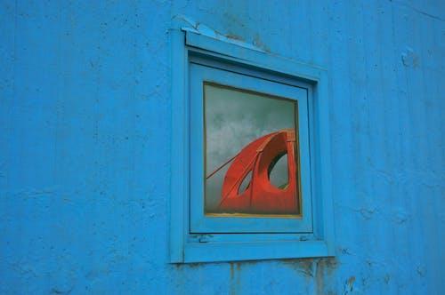 Free stock photo of accross window, architecture, blu tower, blu window