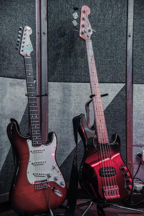 Základová fotografie zdarma na téma dřevěný, elektrické kytary, hmatník, hudba