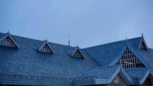 Fotos de stock gratuitas de arquitectura, azotea, azul, azul oscuro