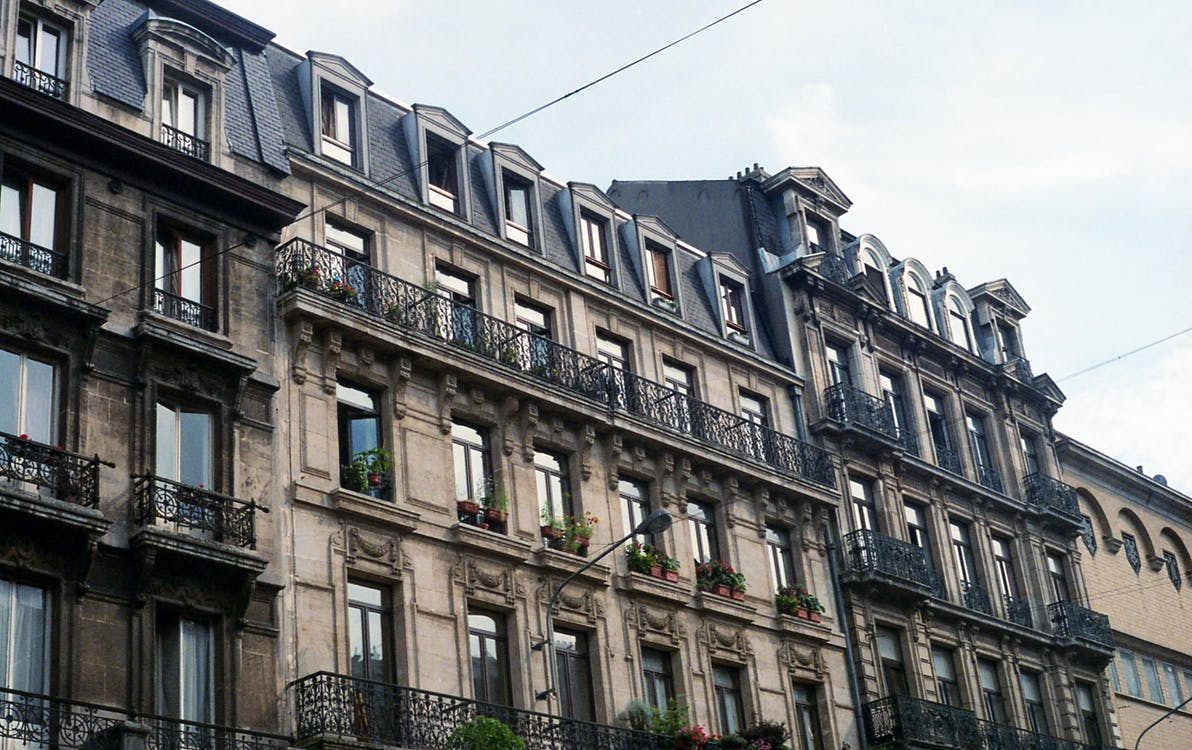 apartmanlar, bakış açısı, balkonlar
