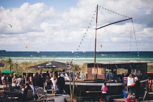 Free stock photo of beach, beach wedding, feier, kiel