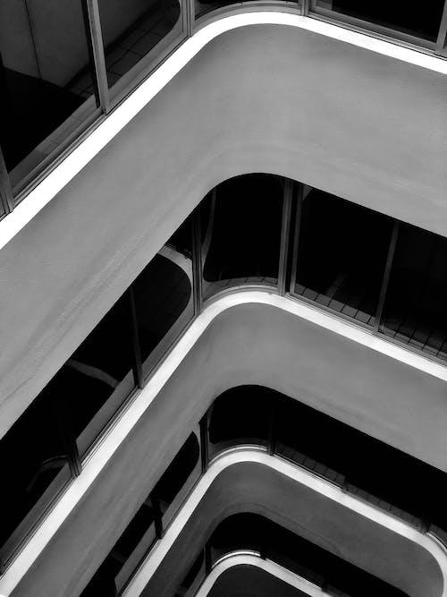 Foto stok gratis Arsitektur, bangunan, Bangunan modern, barang kaca
