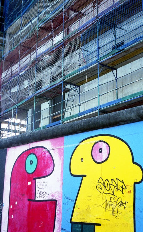 Graffiti Wall With Scaffolding