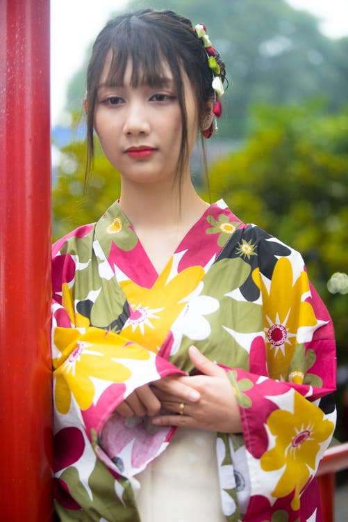 азиатка, женщина, задумчивый