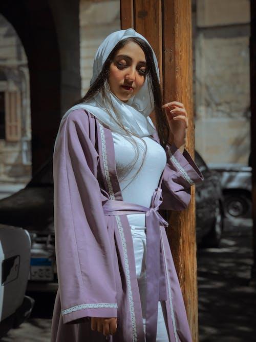 Ảnh lưu trữ miễn phí về Chân dung, đàn bà, đẹp, khăn quàng cổ
